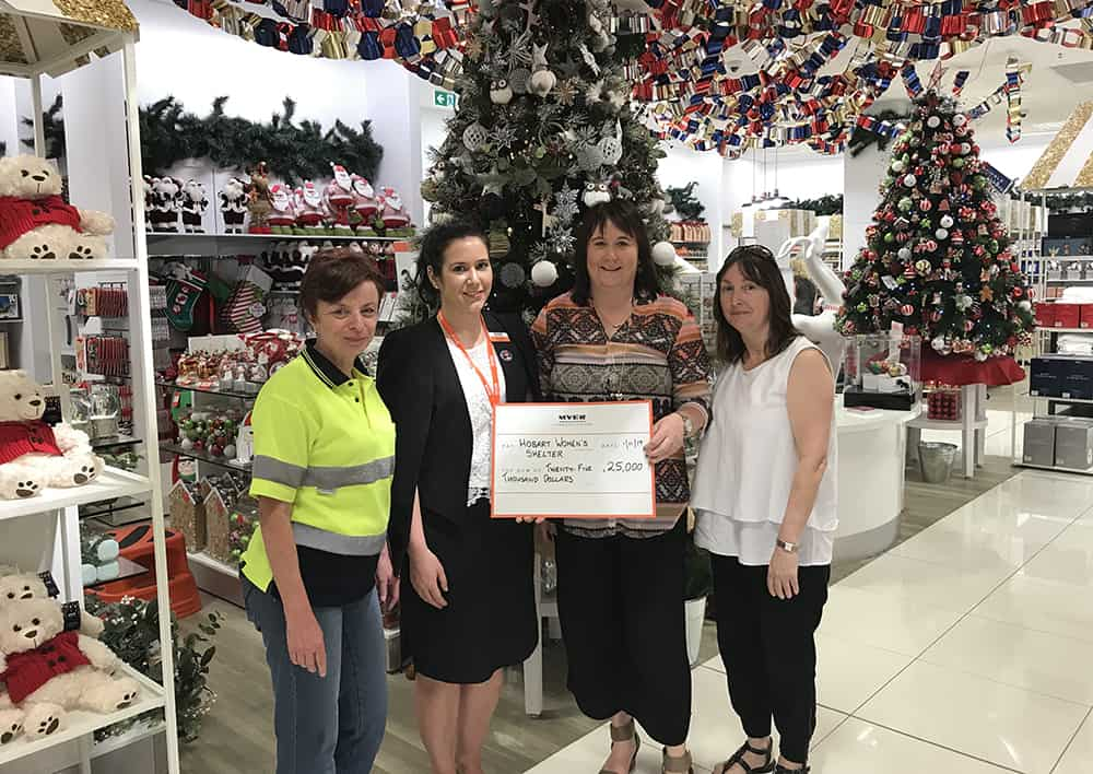 Thank you Myer Hobart and the Myer Community Fund
